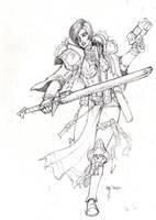 Sororitas Cone: quick sketch by blackswordsman28