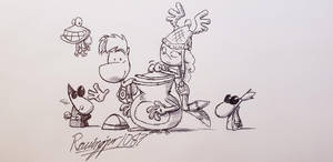 Rayman Legends sketch (redrawn) by Ravingjur1087