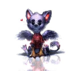 [Original] Fluffy Gryphon by Scyrina