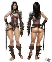 Warrior Chick by SalvadorTrakal