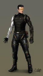 Cyberpunk Character Concept by SalvadorTrakal
