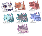 Seven Lucky Kitties Adopt Open by polaskia