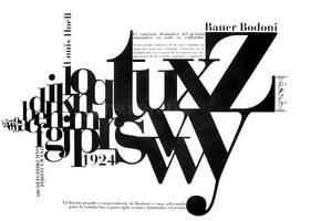 Afiche bauer bodoni by ursulanina