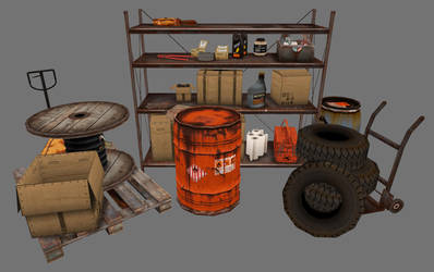 various arranged storage props by ToTac