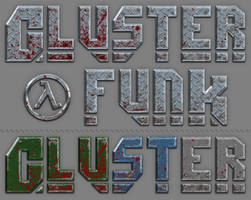 Cluster Funk Logo Design and alt. Color Schemes by ToTac