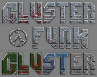 Cluster Funk Logo Design and alt. Color Schemes by ToTac