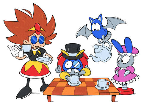 Eggette's Tea Party by Shenaniganza