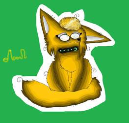 Moon the fennec fox by mysticmagicmanson999