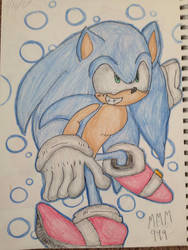 Sonic the hedgehog by mysticmagicmanson999