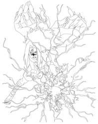 Sasuke line art by Cascada01
