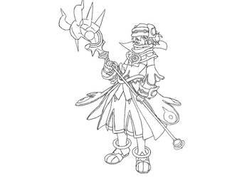 Tsukasa Xth form line art by Cascada01