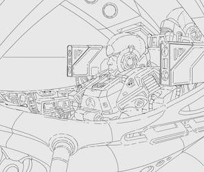 Cockpit Drawing by Artemetra