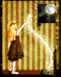 Unnamed - Girl and Moon by ransim