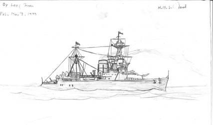 HMS Hood by Hofodomo