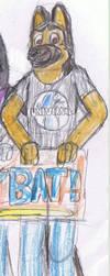 Anthro version My Balto Fan Character Jon Barkin by x-pl