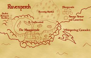 Guilty Treasure DnD Map of Ravenperch by AshleyOTK