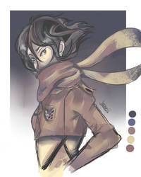 Mikasa by Joaneko