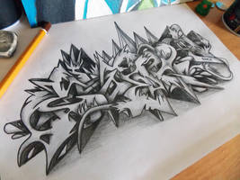 Cesar Graffiti Sketch Battle by SmecKiN