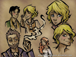 Dorian Gray Sketches by ShamsArts