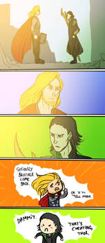 That's cheating, Thor by ShamsArts