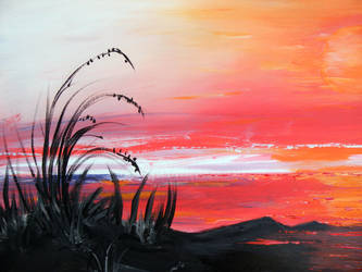 Acryl painting landscaped 80x100 Canvas by stefan2001