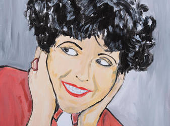 Acryl painting Clara Bow detail 60x80 Canvas by stefan2001