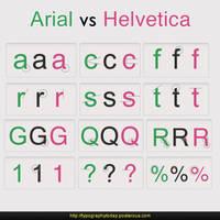 Arial vs Helvetica by t1nus