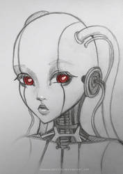 Robot Sketch by HannakiDesign