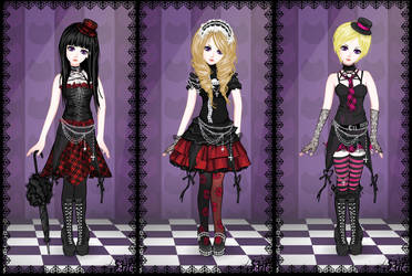 Gothic Lolita Dress Up Trio by Dreamyko