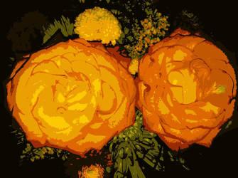 Roses Retro by Zarayla-Artist