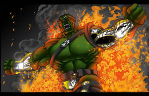 World War Hulk Colors by Superchica