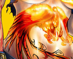 Phoenix Burn Out Detail 3 by transfuse
