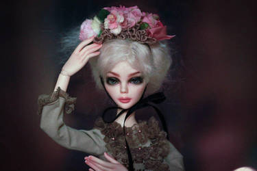 Faceup and blushing Evangeline Ghastly Tonner by CatOfRAGE