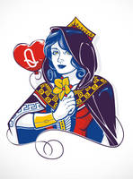 Queen of Hearts by dracoimagem-com