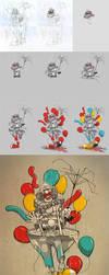 Clown Vs Rain processo by dracoimagem-com