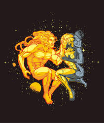 Helios e Luna by dracoimagem-com