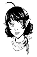 Annoyed Elf Girl by Otakatt