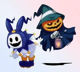 Jack Frost and Pyro Jack by Otakatt