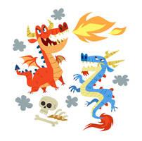 Pair o' dragons by MelDraws