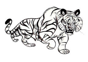 Big Tiger by MelDraws