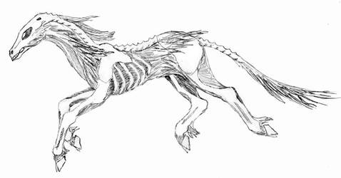 ghoul-horse by chaoka