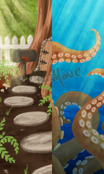 Background doodles by micamone