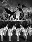 Balloons And Blackbirds by TheFantaSim