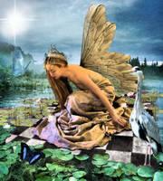 Golden Fae Of The Lake by TheFantaSim