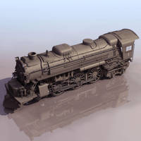 3D Locomotive Engine model by yashmeet135
