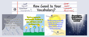 How Good Is Your Vocabulary? by Kittensoft