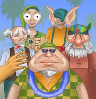 Dwarves on Holiday by Kittensoft