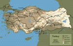 Turkey Map by Kittensoft