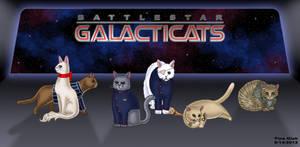 Battlestar Galacticats by Kittensoft