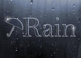 Rain on Metal Logo by Kittensoft